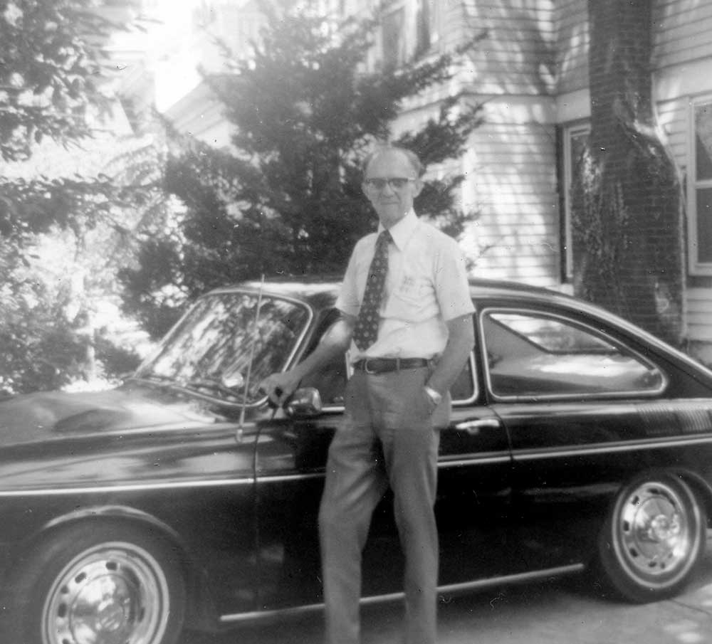 Bud Wheeler with his Electric Car